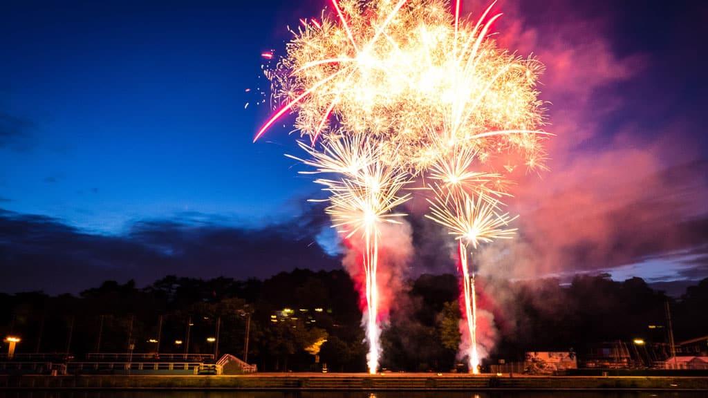 Feuerwerk der Cranger Kirmes